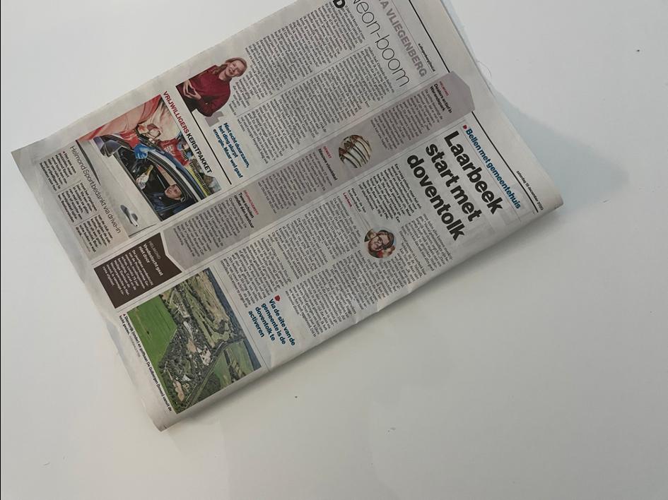 Artikel voorzitter Tom de Beer in Eindhovens Dagblad